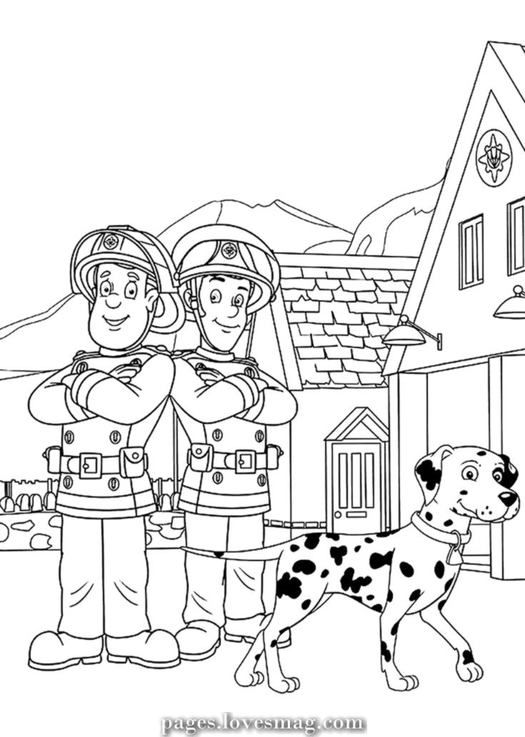 Great 25 Wonderful Firefighter Coloring Web Page Picture Fireman Sam Birthday Party Fireman Sam Fireman Birthday