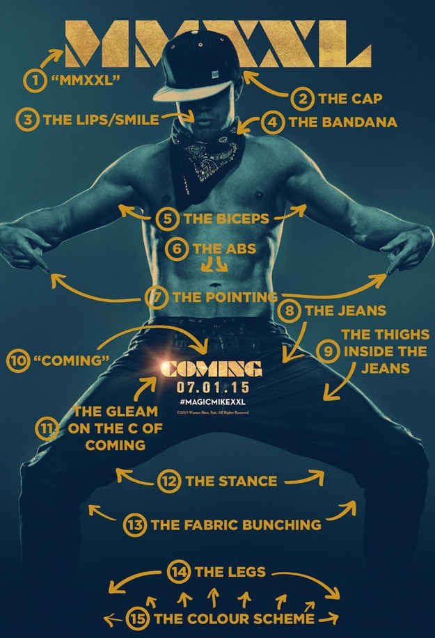 "The 15 Most Important Things About That ""Magic Mike XXL"" Poster...just for you @tpbmama ;)"