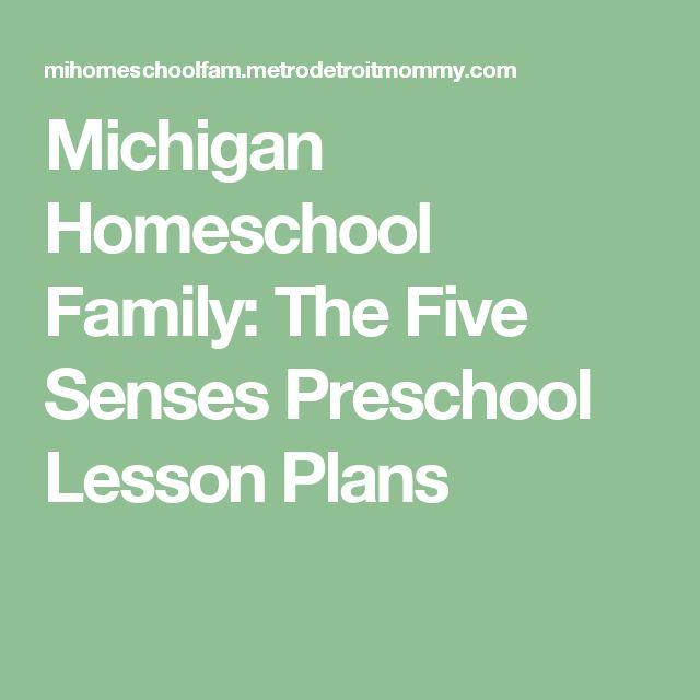 Michigan Homeschool Family: The Five Senses Preschool Lesson Plans
