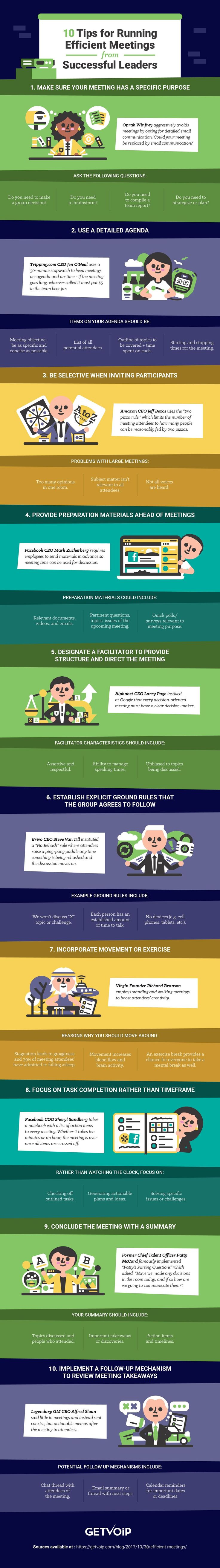 10 Tips for Efficient Meetings from Successful Leaders [Infographic]