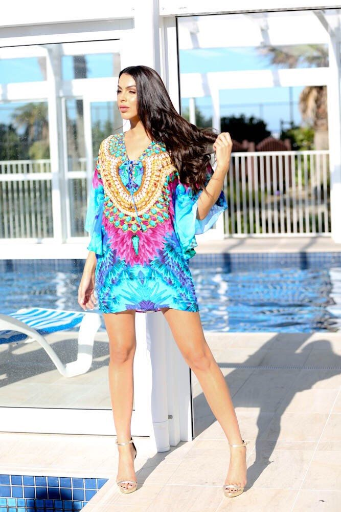 A personal favourite from my Etsy shop https://www.etsy.com/au/listing/397991639/turquoise-dreams-short-kaftan