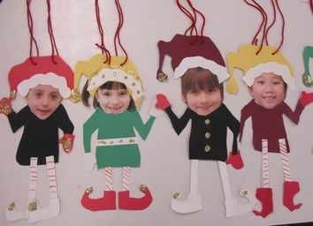 Elf Yourself craft - set up a little station of pre-cut shoes/ hats etc with our Elf on the shelf guy w/ an invitation from him to Elf yourself