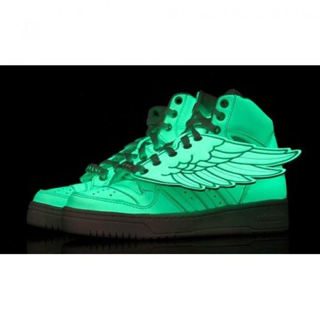 Popular Mens Jeremy Scott x Adidas JS Wings Glow In The Dark For $132.00 Go To: http://www.jeremyscottvip.com