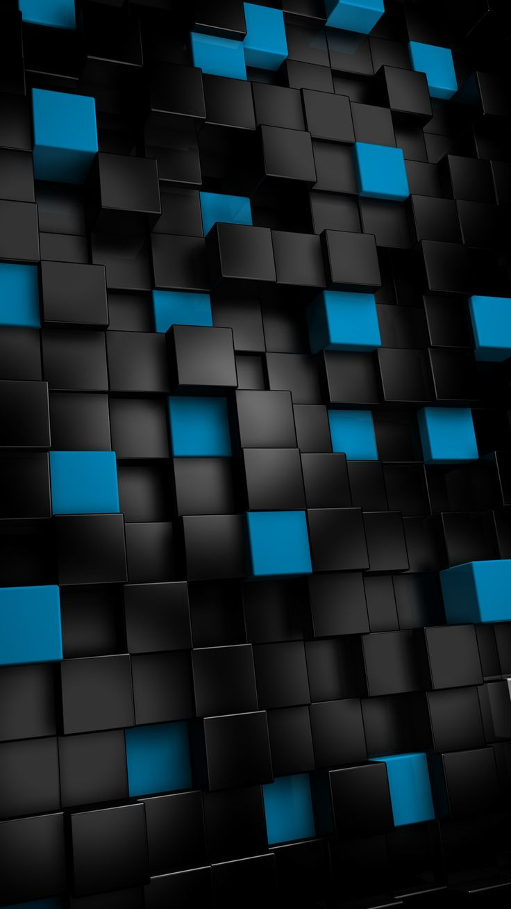 Abstract Black Cubes Htc One Wallpaper