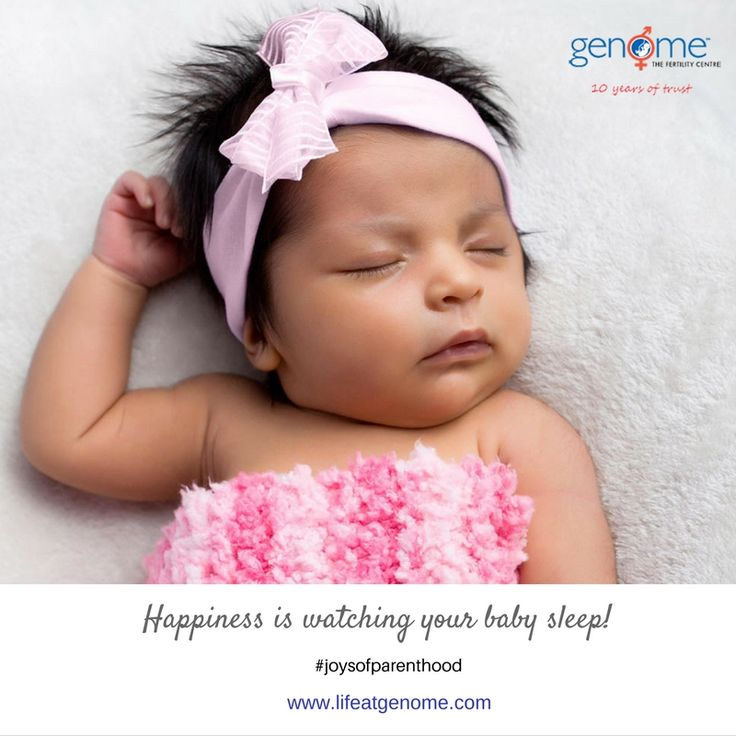 There are few things in life as gratifying and heart-warming as watching your child sleeping peacefully.  Genome wishes you Happy Parenthood ツ