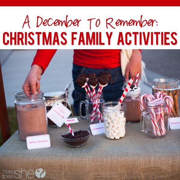 Awesome Christmas Activity Ideas  #howdoesshe #christmasactivties #christmasideas howdoesshe.com