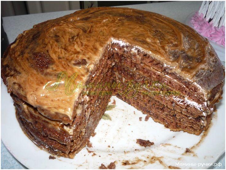 """Торт """"Негритянка"""" на сковороде (cake in the pan)"""