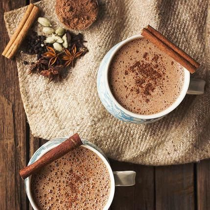 This Chai Hot chocolate looks delicious.