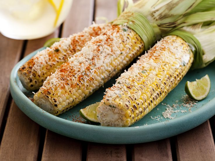 Nacho Libre?  lol  Mexican Grilled Corn Recipe : Tyler Florence : Food Network - FoodNetwork.com