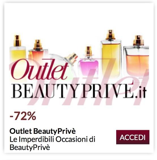 Nelle Offerte Outlet BeautyPrivè trovi tantissimi profumi e cosmetici per Donna e Uomo a prezzi incredibili! BeautyPrivè ha selezionato per Te alcuni tra i prodotti dei migliori brand del comparto profumeria a prezzi imperdibili.Affrettati a scoprire i prodotti selezionati da BeautyPrivè in edizione limitata: http://www.beautyprive.it/index.php?xb=da4fb5c6e93e74d3df8527599fa62642=a39e52796a772fcc125e2de5f4db4766