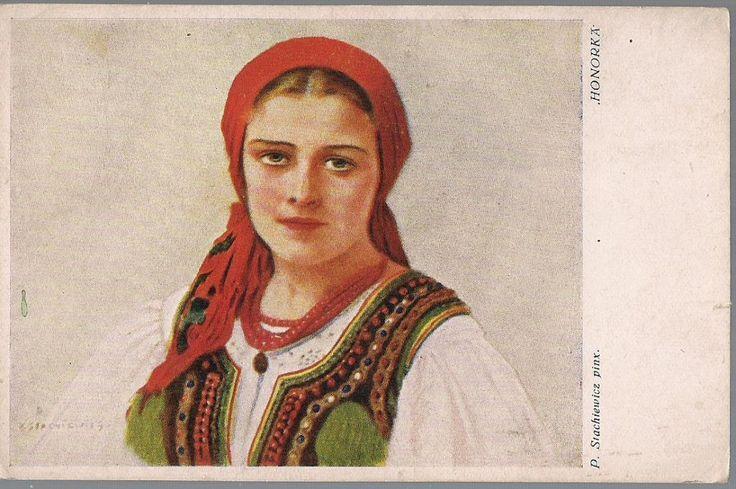 pocztówka STACHIEWICZ Honorka folklor