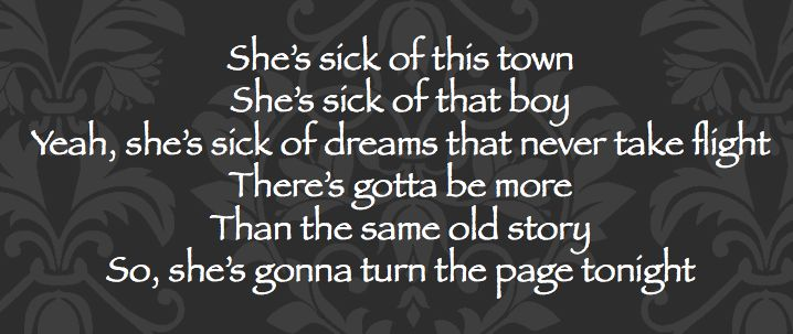 """""""She's sick of this town , she's sick of that boy yeah, she's sick of dreams that never take flight. There's gotta be more than the same old story So, she's gonna turn the page tonight"""" - Eli Young Band """"DUST"""" Off their BRAND NEW album 10,000 Towns available now : https://itunes.apple.com/us/album/10-000-towns/id806253912?uo=4"""