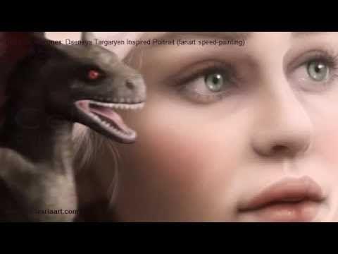 Game of Thrones: Daenerys Targaryen inspired portrait (fanart speed-painting) by Tanya Varga