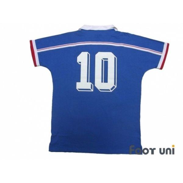 France 1986 Home Reprint Shirt 10 In 2020 Sports Tshirt Designs Retro Football Shirts Vintage Football Shirts