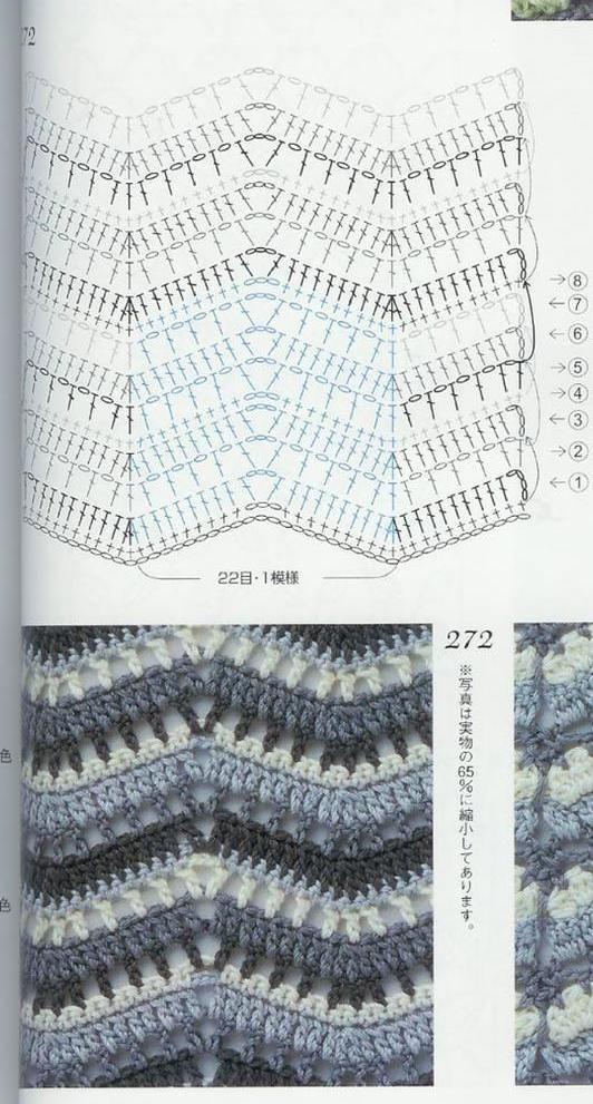 581 best CROCHET CHEVRON RIPPLE -WAVE images on Pinterest | Crochet ...