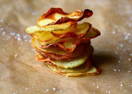 Homemade Baked Salt and Vinegar Chips - The Talking Kitchen - The Talking Kitchen