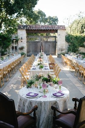 Sweetheart Table with Formal Chairs, Outdoor Wedding    Photography: Karlisch Photography   Read More:  http://www.insideweddings.com/weddings/modern-rustic-wedding-full-of-flowers-and-geometric-details/906/