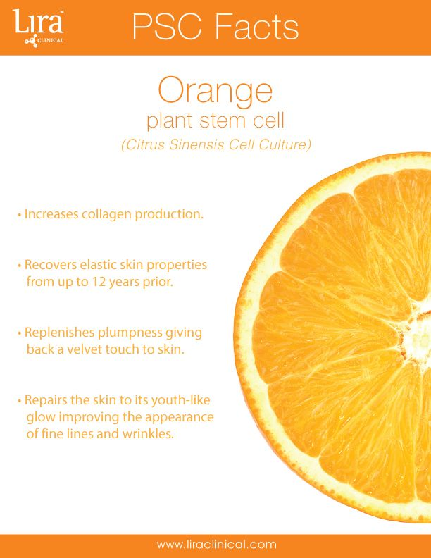 Orange you glad you use Lira Clinical? A majority of Lira Clinical products within the MYSTIQ Line contain the Orange Plant Stem Cell (PSC). This special PSC not only fights wrinkles but helps improve skin elasticity. The Orange Plant Stem cell specifically organizes the inner structure of the skin and redensifies it for a younger looking appearance.   Discover more about Lira Clinical Ingredient technology by visiting our PSC Guide: http://issuu.com/lira-clinical/docs/lirapscfactbooket