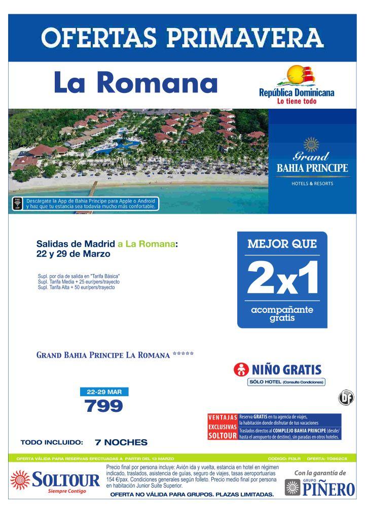 La Romana (Rep. Dominicana) Mejor que 2x1 Grand Bahía Príncipe La Romana, salidas 22 y 29 Marzo desde Madrid ultimo minuto - http://zocotours.com/la-romana-rep-dominicana-mejor-que-2x1-grand-bahia-principe-la-romana-salidas-22-y-29-marzo-desde-madrid-ultimo-minuto/