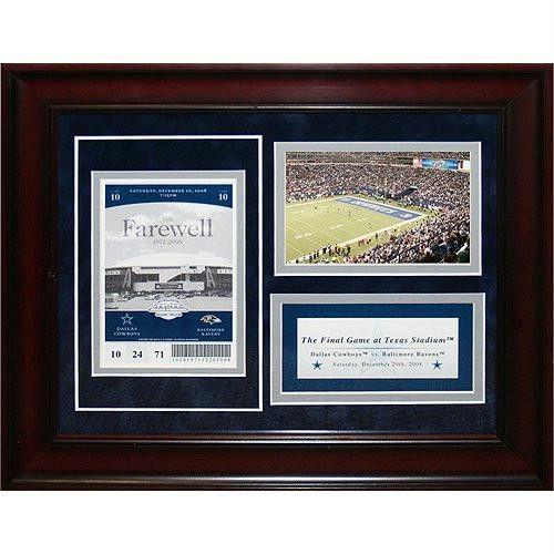 Dallas Cowboys 11x14 Final Game Commemorative Ticket Collage (Pkg A)