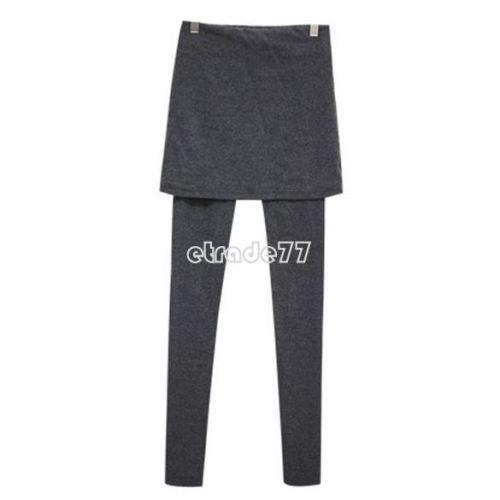 Autumn Winter Women Skirt Leggings Footless Cotton Pleated Tights Stretch Pants   eBay