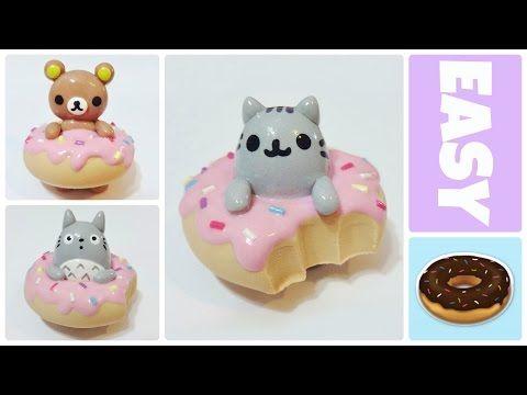 Rilakkuma, Pusheen & Totoro Donuts polymer clay tutorial