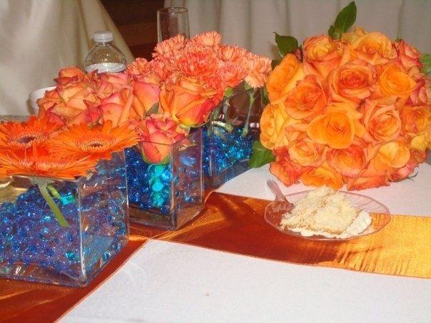 Orange Wedding Theme Blue