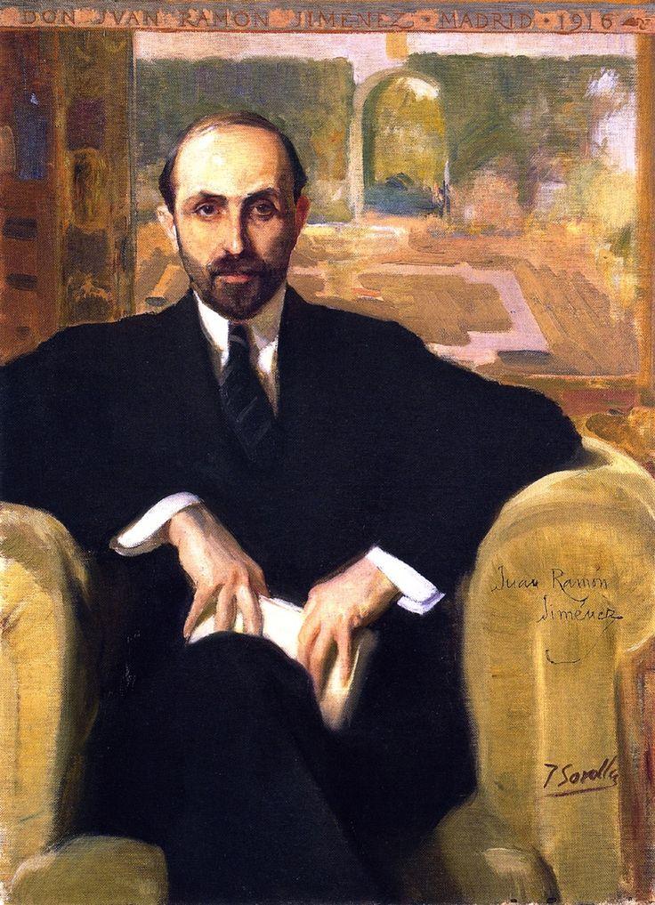 Joaquín Sorolla - Retrato de Juan Ramón Jiménez