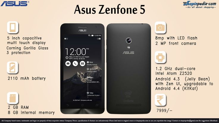 Asus Zenfone 5 Specifications - Infographics– Infographics @ Shopinpedia