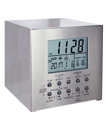 Look at this #zulilyfind! Three-Event Countdown Stainless Steel Alarm Clock #zulilyfinds