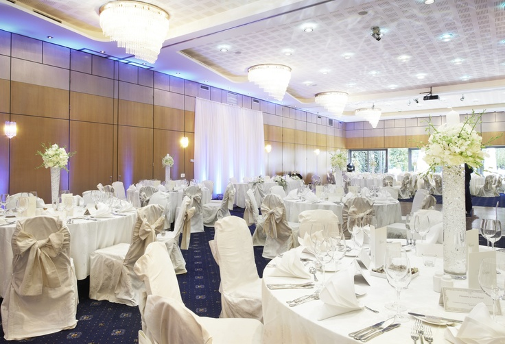 "Wedding setup in the ""Crowne Ballroom"" at the Crowne Plaza Hotel Bucharest"