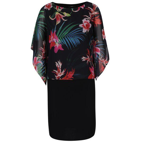 Rochie neagră cu aspect 2 în 1 și mâneci fluture – M&Co