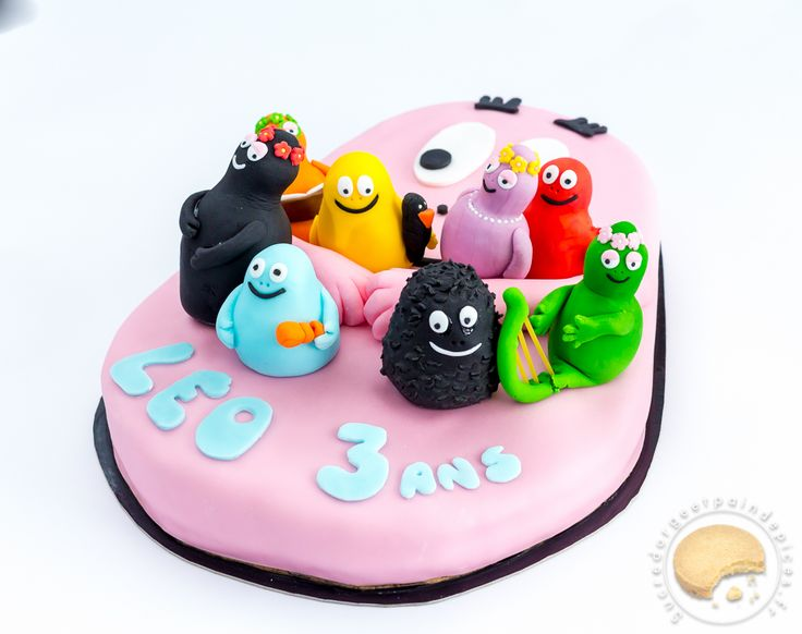 Gâteau Barbapapa et sa famille !