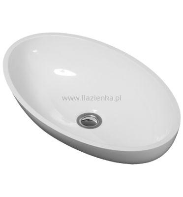 Omnires Marble+ Crete umywalka nablatowa biały połysk