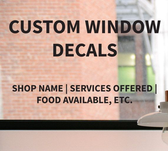 Custom Business Decal - Help advertise your business, to get more foot traffic, with a custom decal that can go on the front door or window. The custom decal can be of your business name, store hours, or even of catch phrases to get customers in the door!  Custom Business Decal, Custom Window Decal, Storefront Business Sign, Business Advertising, Business Decal, Custom Lettering, Window Decal by DesignsByTenisha