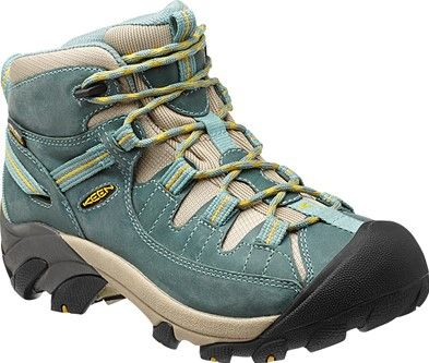 KEEN Targhee II Mid boots in a gorgeous Mineral Blue. Perfect for these upcoming summer adventures.