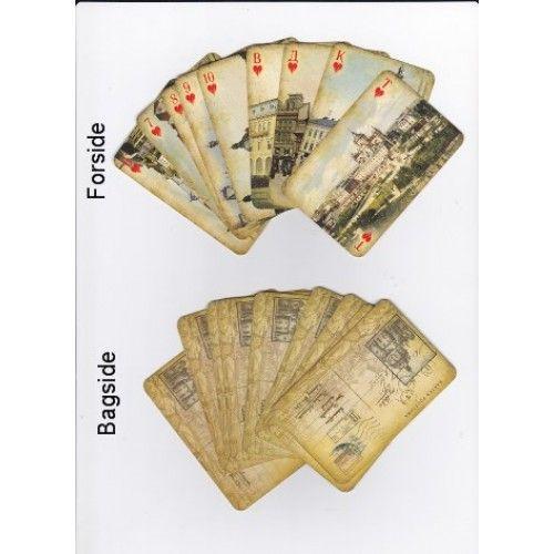 Reklame-spillekort fra Lviv i Ukraine (sæt med 36 kort)