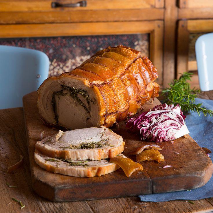 Varkensrib met rode kool en wittebonencrème recept - Jamie magazine