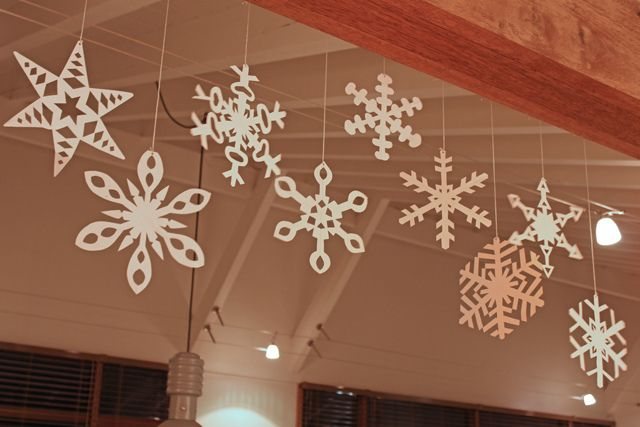 beautiful paper snowflakes