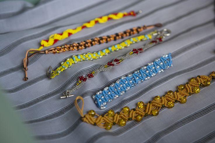 Macrame bracelets, by THEIA Lab's student Venetia Papakosta.
