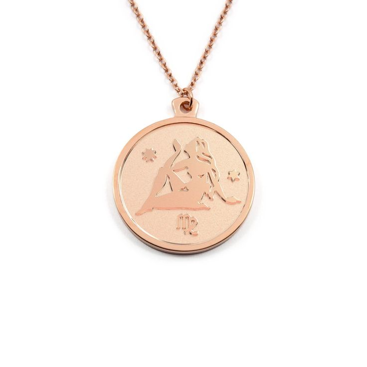 Designer Necklace by Anna Saccone; rose gold SMALL
