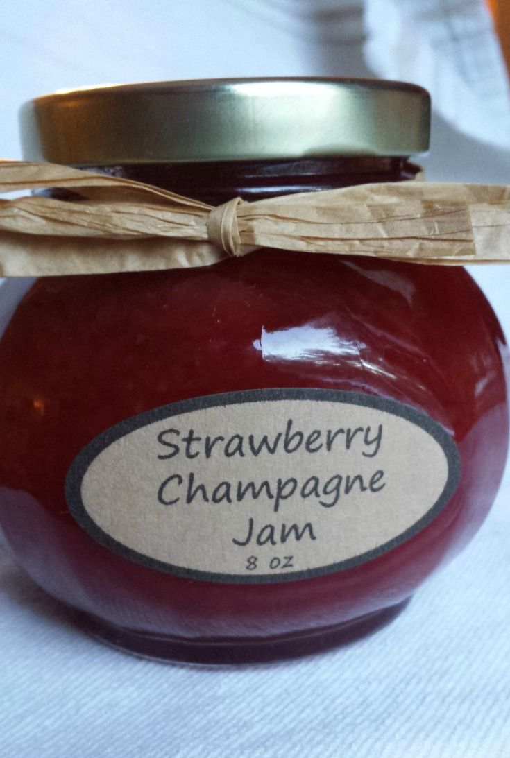 Strawberry Champagne Jam - From the Garden Table