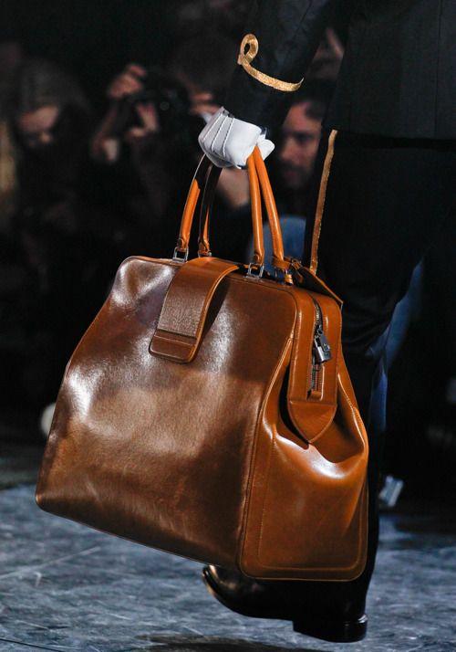 Louis Vuitton Fall 2012 large brown frame handbag