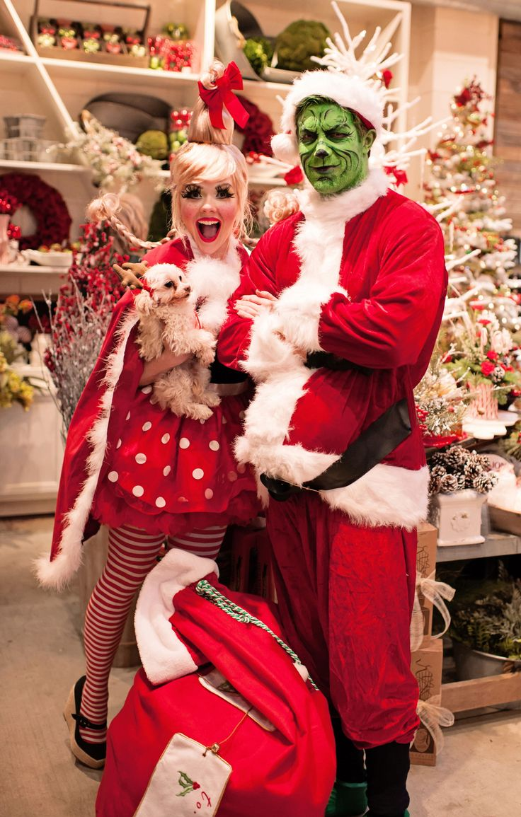 The Grinch and Cindy Lou Who adult Christmas Costume