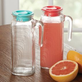Glass Refrigerator Pitchers -- everything tastes better out of a glass container!