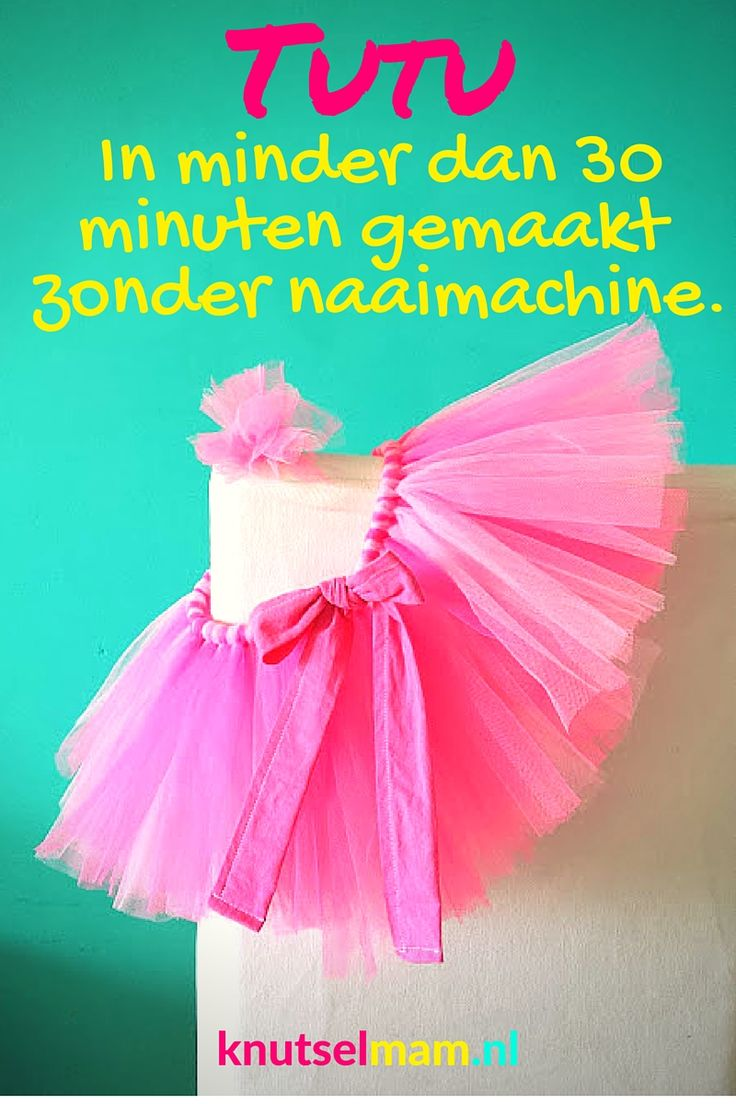 Tutu in minder dan 30 minuten gemaakt zonder naaimachine. knutselmam.nl Tutu DIY.  Tutu made in less than 30 minutes no sewing.