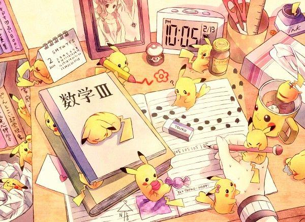 Pokémon Pikachu fanart, I love the one stuck on the coffee cup lol