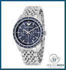 Brand New Mens Emporio Armani Blue Dial Chronograph Watch-AR6072-RRP-339