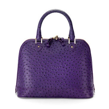 Bag Purple Ostrich Luxury Leather Wallets Handbags