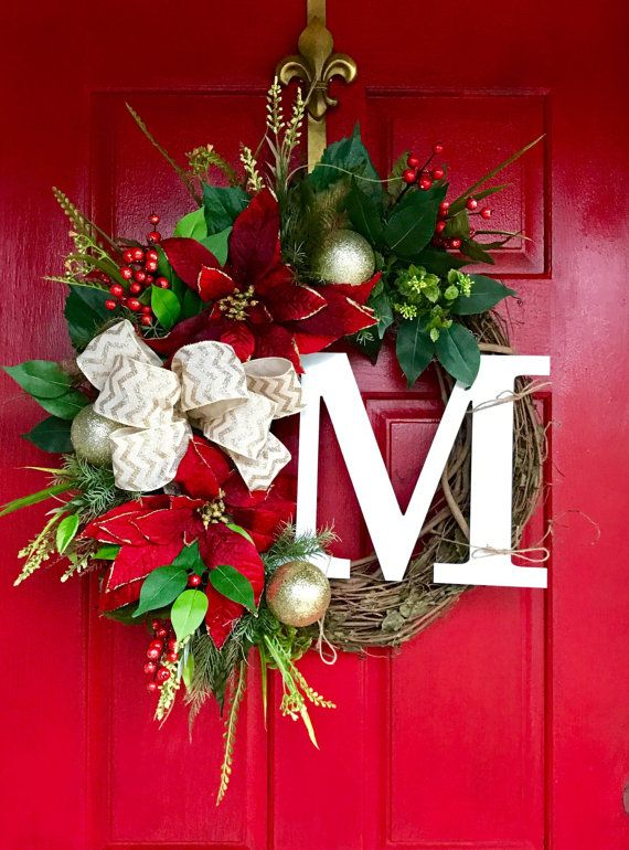 Christmas Wreath for Front Door Christmas Wreaths by FleursDeLaVie